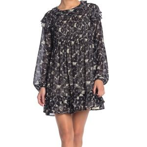 NWT These Dreams Mini Dress Floral Black/White XS